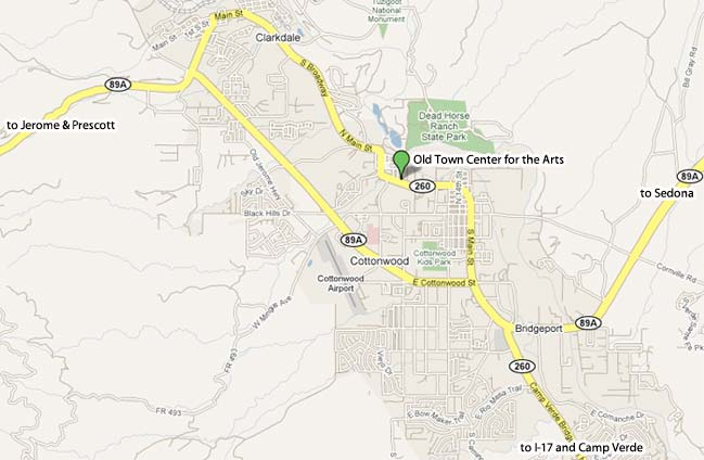 Old Town Center for the Arts Map